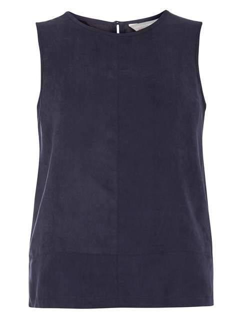 Petite suedette shell top Was £20.00 Now £5.00Click to visit Dorothy Perkins