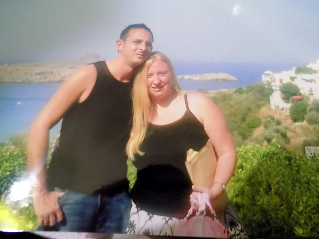 With my husband in Lindos a few days before we got married 2005