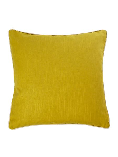 Linea Lime cotton cushion with contrast piping £20 current deal four for £25 click to visit House of Fraser