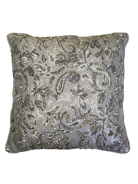 Kylie Minogue Alexa Silver Direct Co-ordinate Cushion now £28 Click to visit House of Fraser