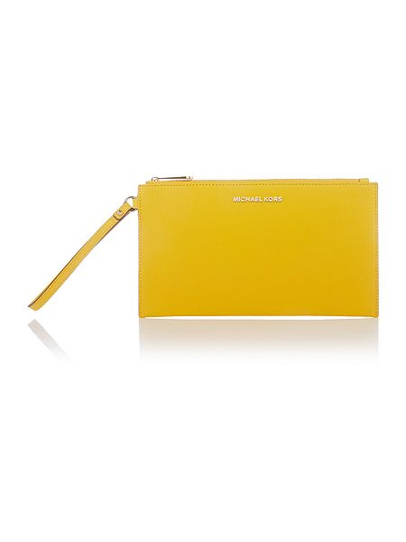 Michael Kors Jetset travel yellow pouchette £95 Click to visit House of Fraser