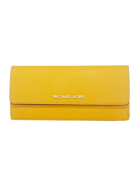 Michael Kors Jetset yellow flat flap over purse £95 Click to visit House of Fraser