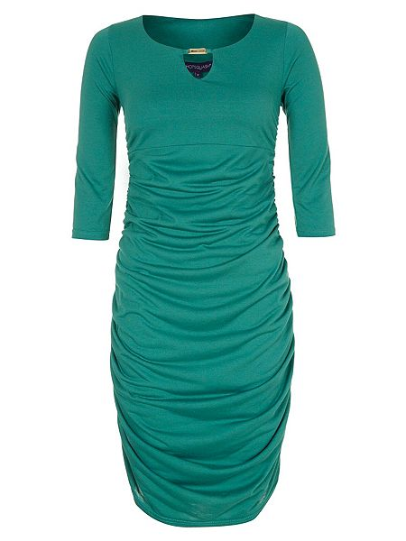 HotSquash Thinheat gold bar ruched dress now £45 Click to visit House of Fraser