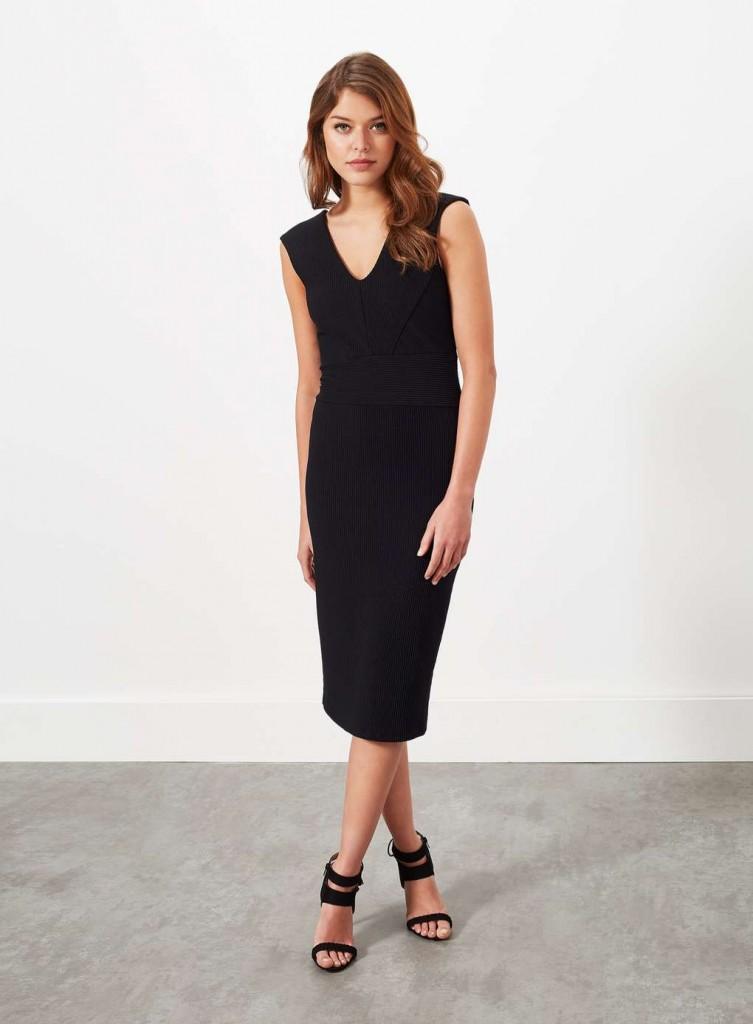 Plunge Rib Midi Dress Was £39.00 Now £19.50Click to visit Miss Selfridge