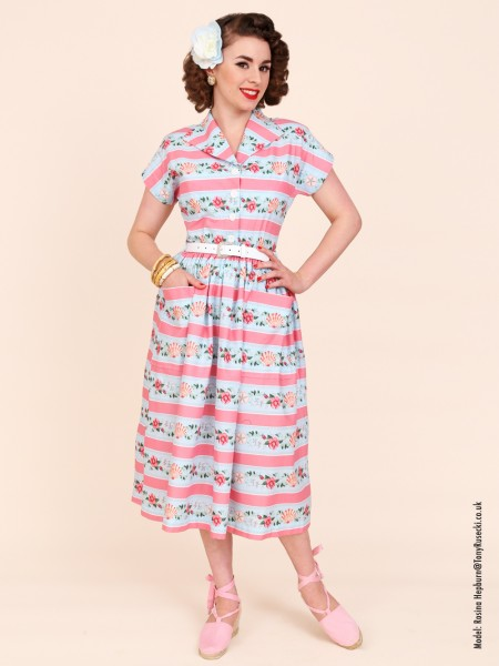 Kitty Seashell Stripe Pale Blue £89.00 Click to visit Vivien of Holloway