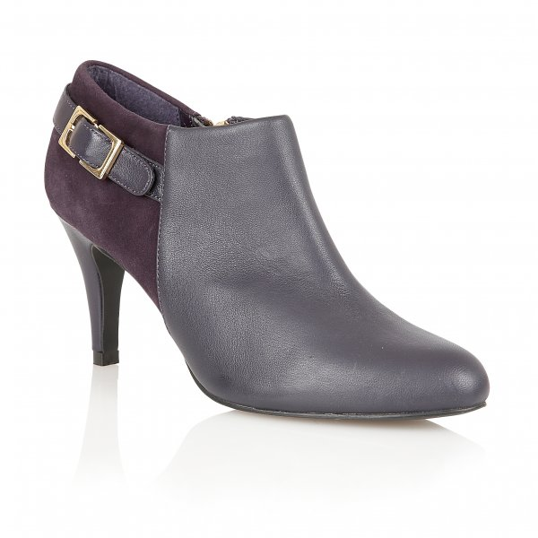 Lotus Mist Purple Leather Shoe Boots