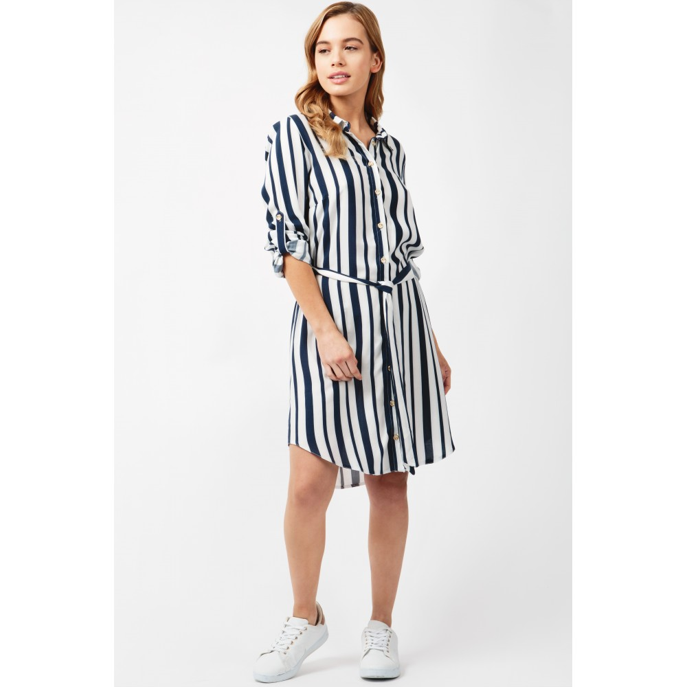 MARINE STRIPE SHIRT DRESS Code: #S043/0406/016_NAVY £19.99 Click to visit Select