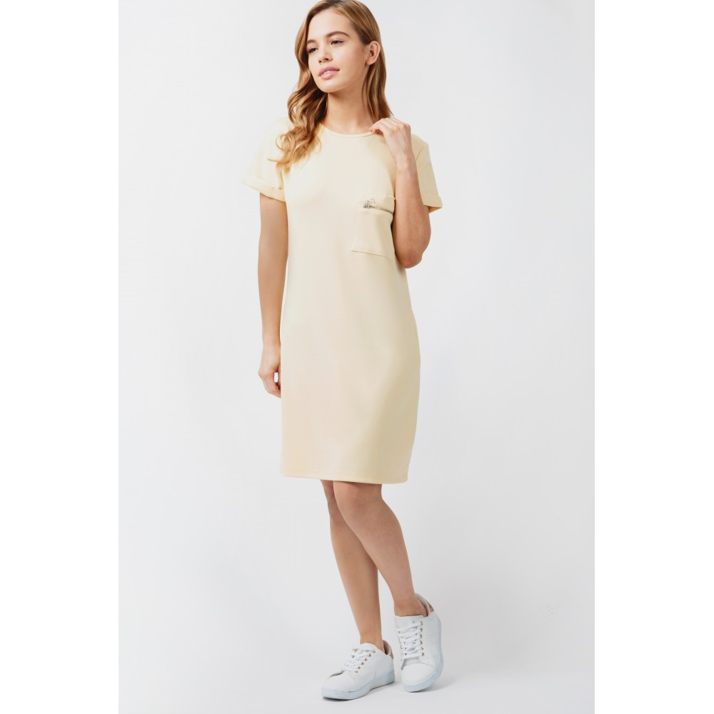 PONTI ZIP POCKET TUNIC DRESS Code: #S043/0402/015_BANANA £12.99 £9.99 Click to visit Select