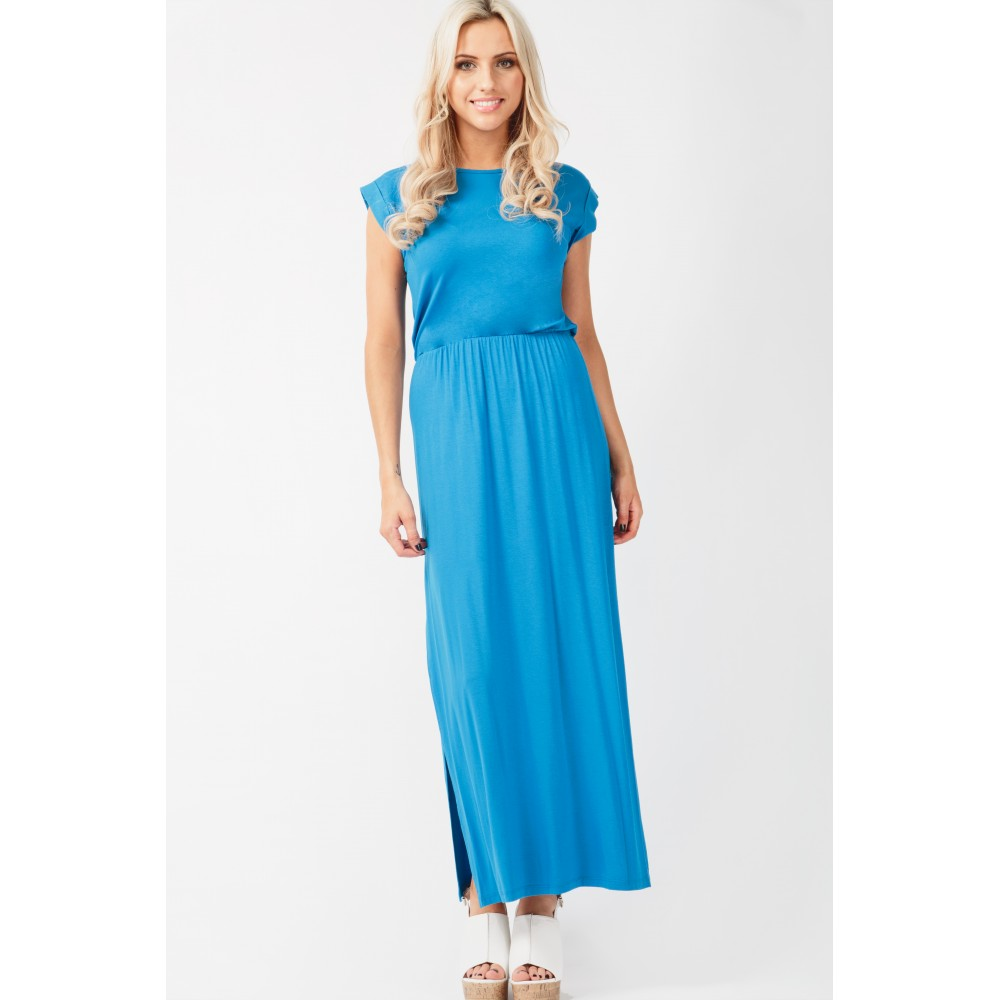 ROLL UP SLV MAXI DRESS Code: #S041/0403/034_COBALT £13.99 Click to visit Select