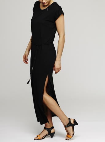 Jersey Rope Tie Maxi Dress, Black Price: £24.00 Click to visit BHS