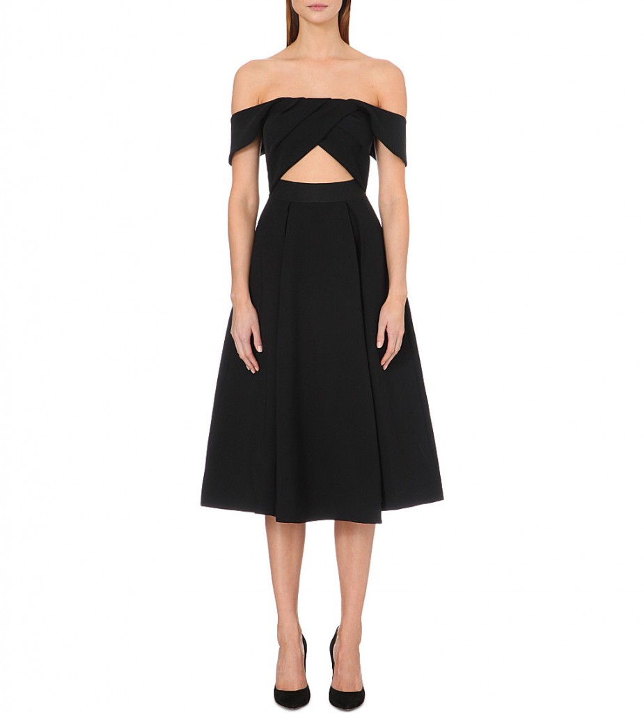 SELF-PORTRAIT Ayelette off-the-shoulder crepe dress £325.00 Click to visit Selfridges