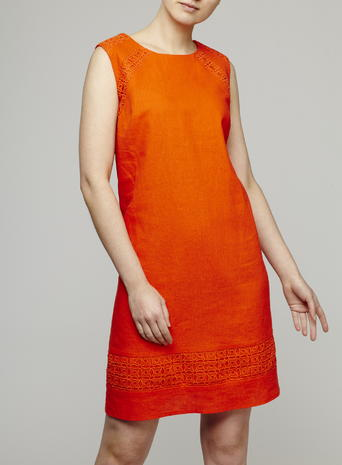 Sleeveless Broderie Shift Dress, Tangerine Price: £28.00 Click to visit BHS