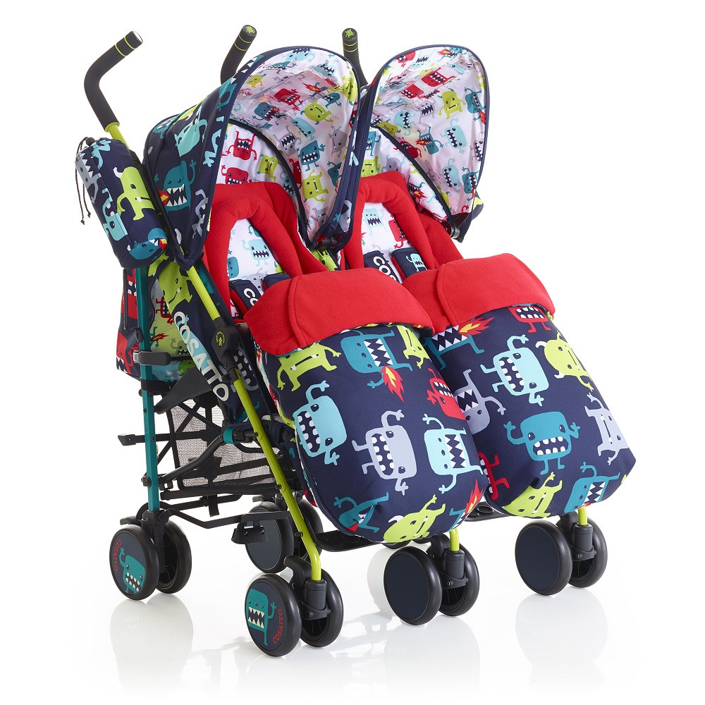 Cosatto Supa Dupa Twin Stroller (Cuddle Monster 2) DS Double & Twin Pushchairs £288.00 £320.00 + Free Delivery Click to visit Babythingz