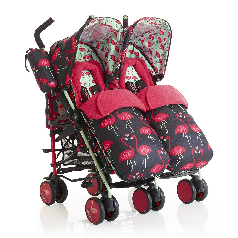 Cosatto Supa Dupa Twin Stroller (Flamingo Fling) DS Double & Twin Pushchairs £288.00 £320.00 + Free Delivery Click to visit Babythingz