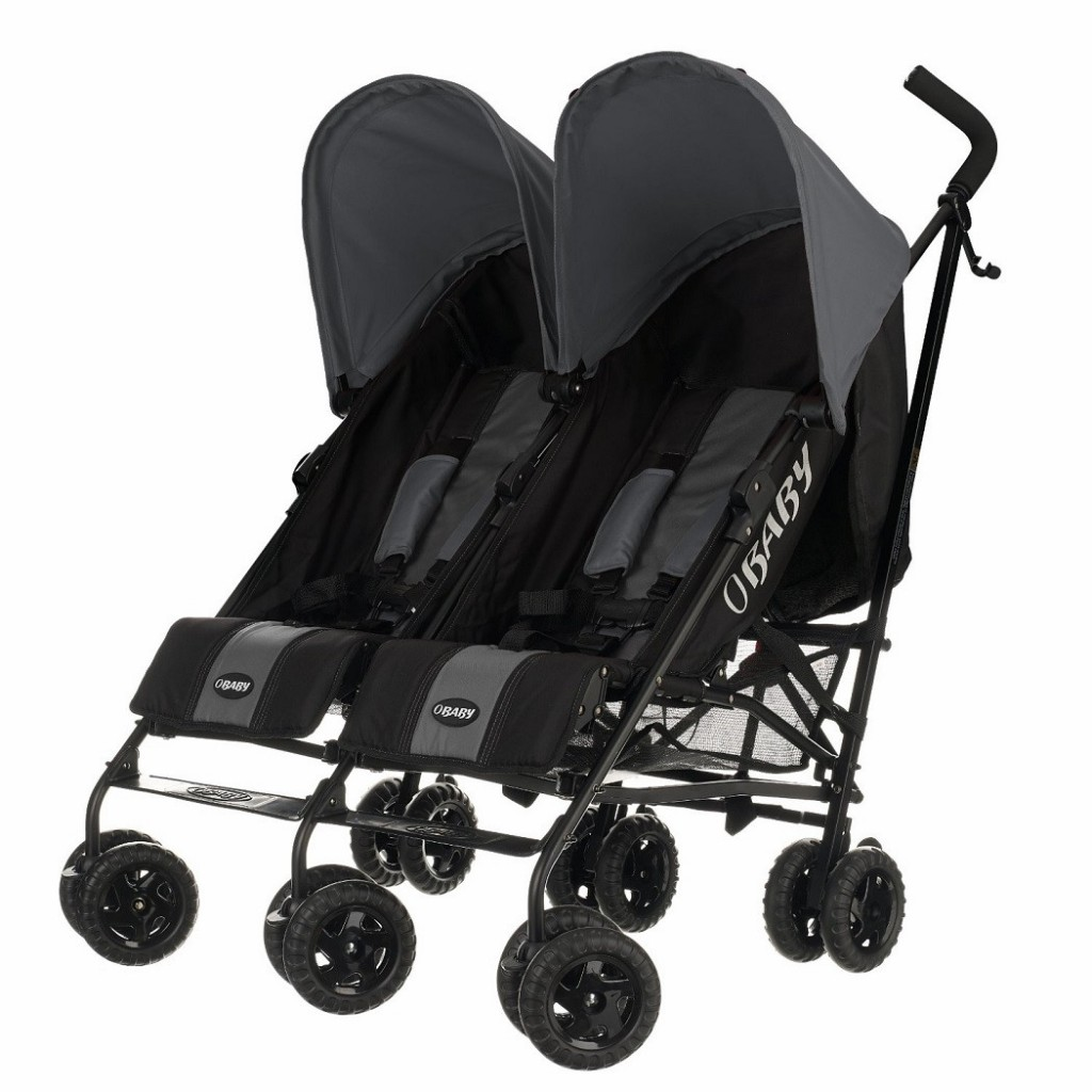Obaby Apollo Twin Stroller (Black / Grey) Double & Twin Pushchairs £109.99 £169.99 + Free Delivery Click to visit Babythingz