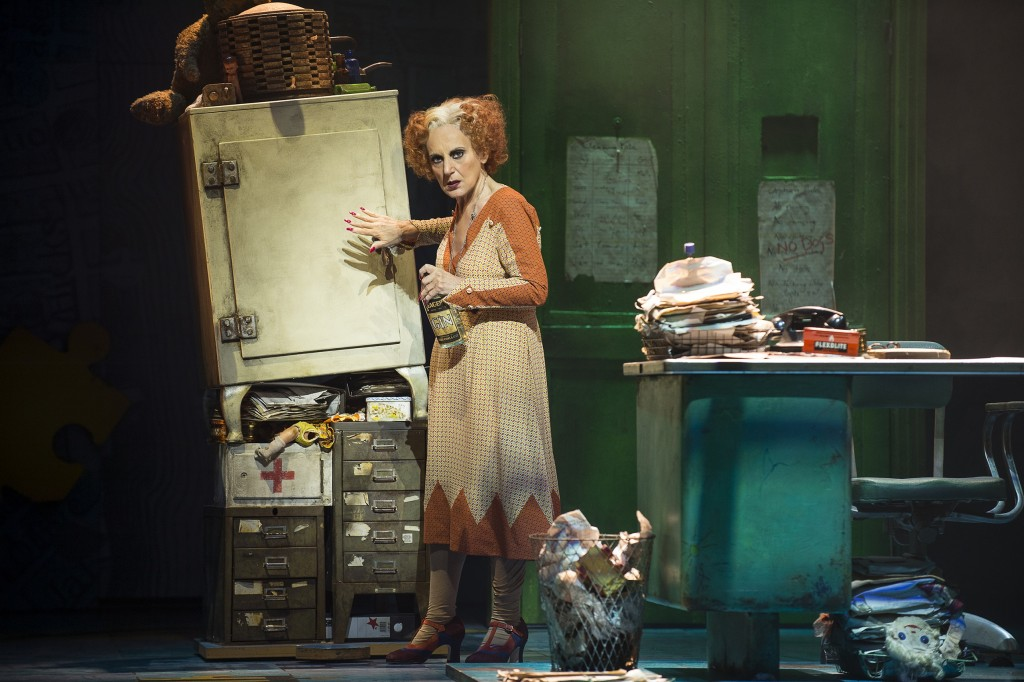 ANNIE - Lesley Joseph as 'Miss Hannigan'. Photo credit Paul Coltas