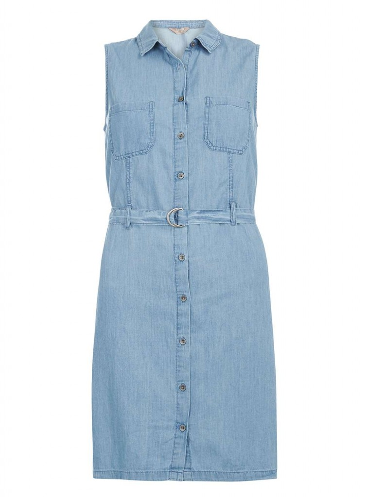 Sleeveless Denim Shirt Dress Was £24.00 Now £18.00Click to visit Dorothy Perkins