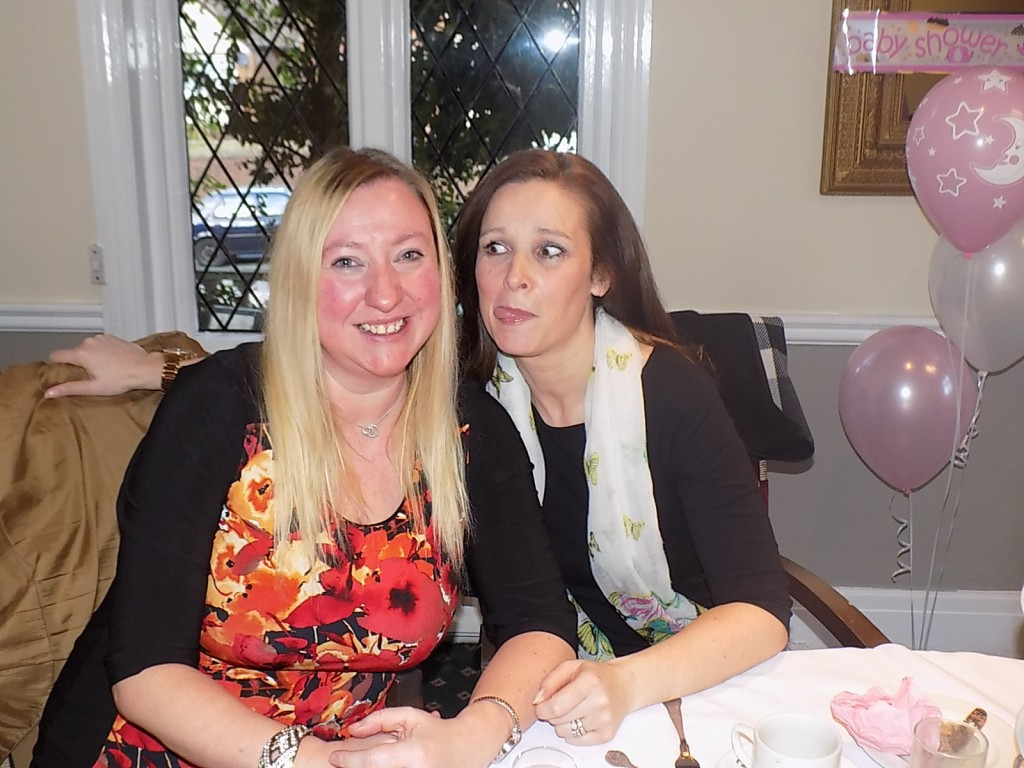 With my friend Tracy at the Baby Shower