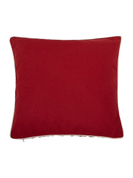 Linea Red cotton cushion with contrast piping now £10 of 4 for £25 Click to visit House of Fraser