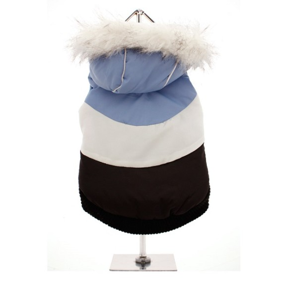 Luxury Dog Parka in Blue/ White £22.95 Click to visit Top Dog Apparel