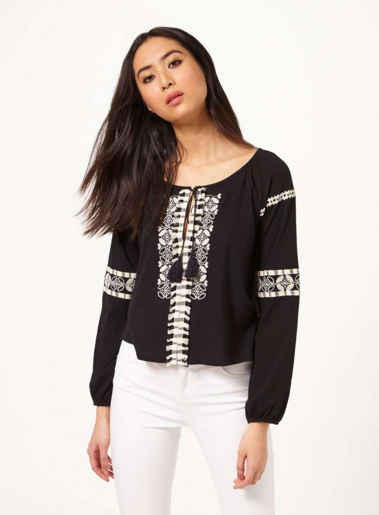 Black Embroidered Gypsy Top £25.00 Click to visit Miss Selfridge