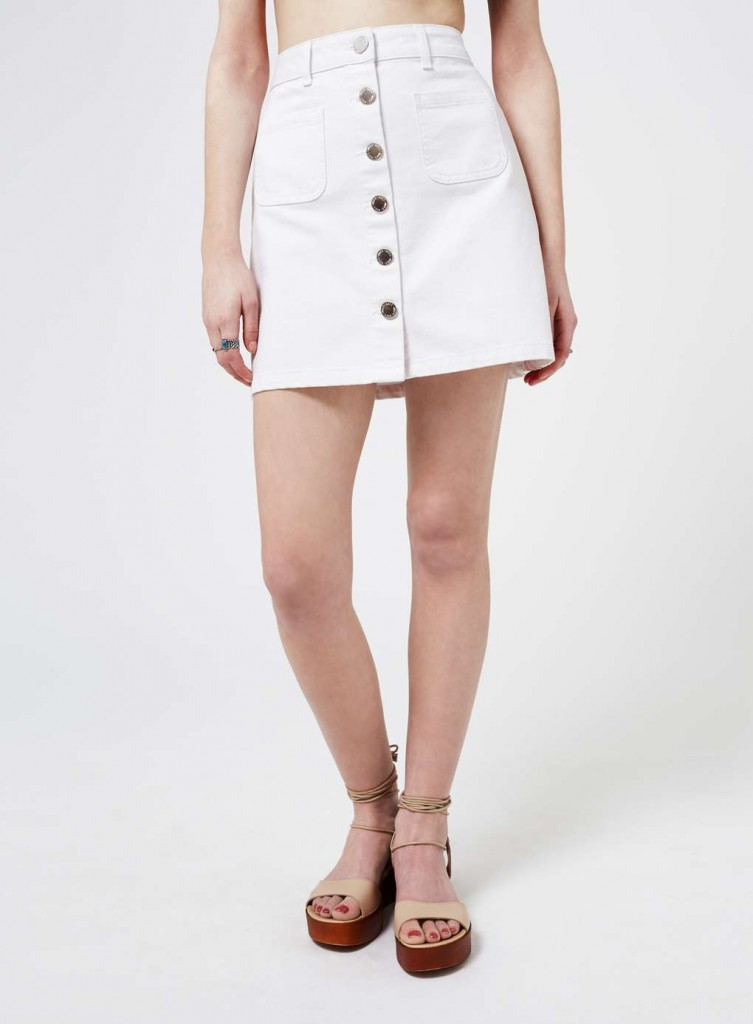 White Patch Pocket Denim Skirt £28.00 Click to visit Miss Selfridge