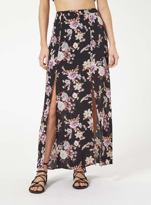 Petites Floral Wrap Maxi Skirt £32.00 Click to visit Miss Selfridge