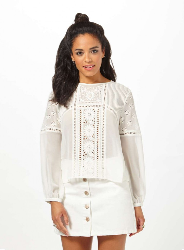 Petites Ivory Cutwork Blouse £35.00 Click to visit Miss Selfridge