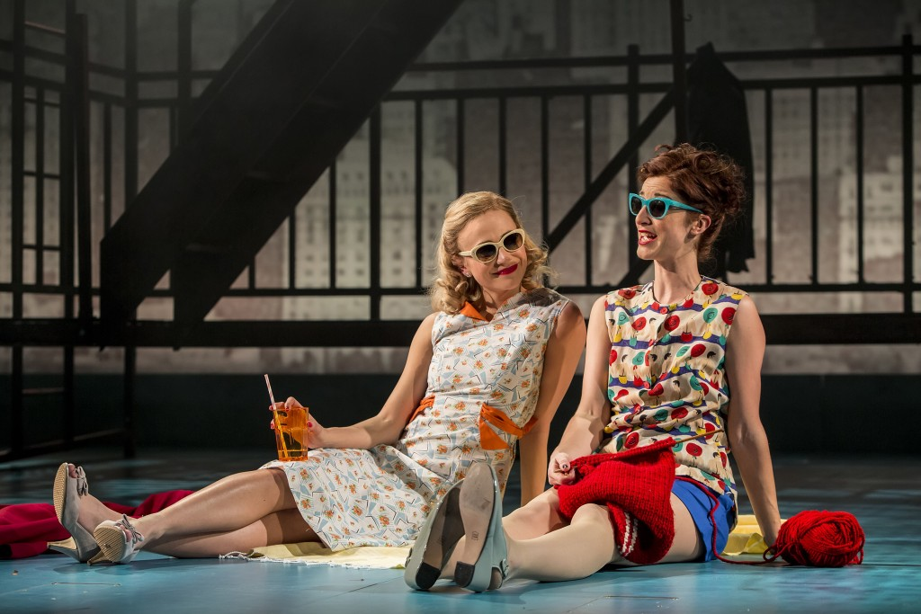 Pixie Lott as Holly Golightly and Naomi Cranston as Mag in Breakfast at Tiffany's (Sean Ebsworth Barnes)