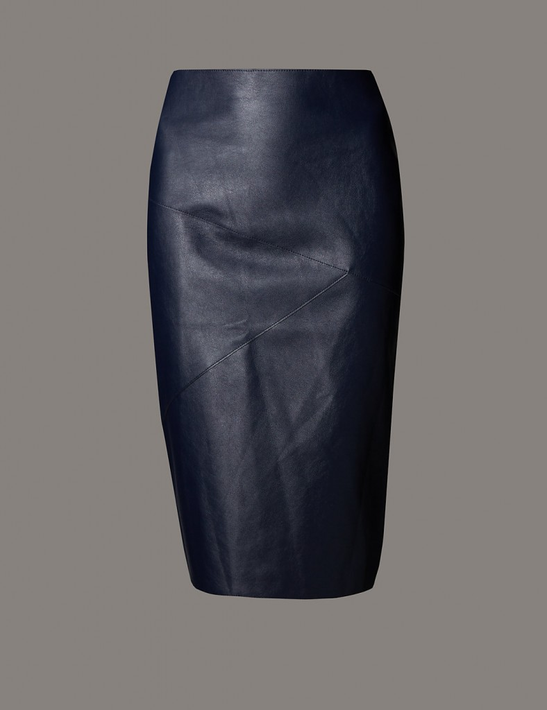 AUTOGRAPH Faux Leather Pencil Skirt T508340 £49.50 Click to visit M&S