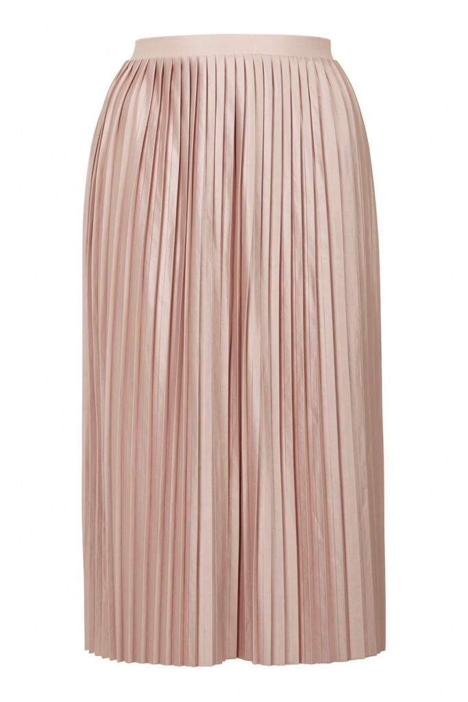 Jersey Pleated Midi Skirt £32.00 Click to visit Topshop