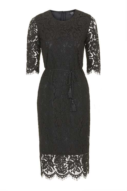 **Black Lace Midi Dress by Goldie £49.00 Click to visit Topshop