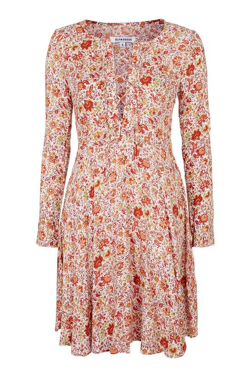 **Tie-Up Front Smock Dress by Glamorous £38 Click to visit Topshop