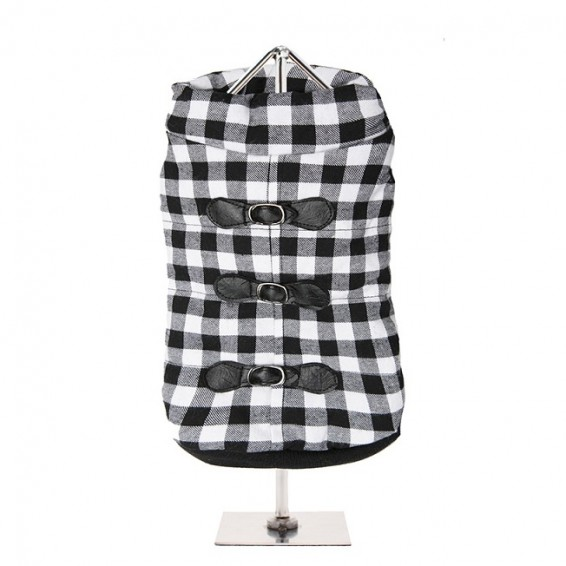 Two Tone Checked Dog Coat £24.95 Click to visit Top Dog Apparel