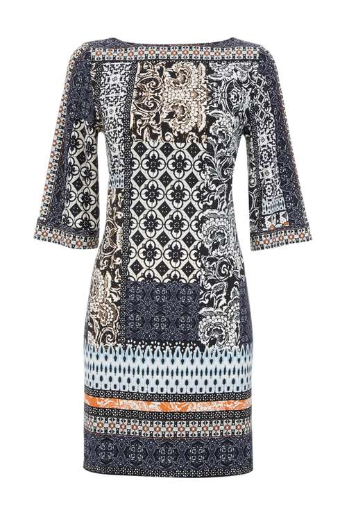Petite Patchwork Flute Sleeve Dress Was £40.00 Now £28.00Click to visit Wallis