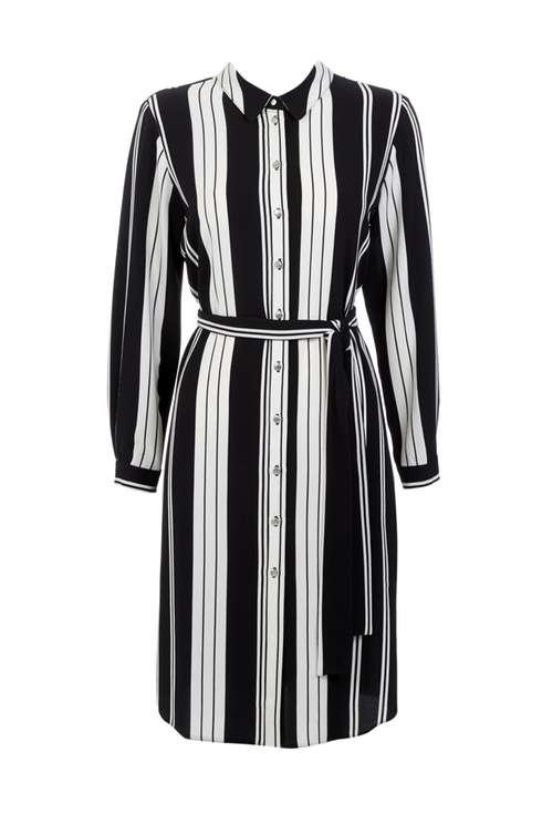 Petite Monochrome Stripe Shirt Dress Was £40.00 Now £28.00Click to visit Wallis