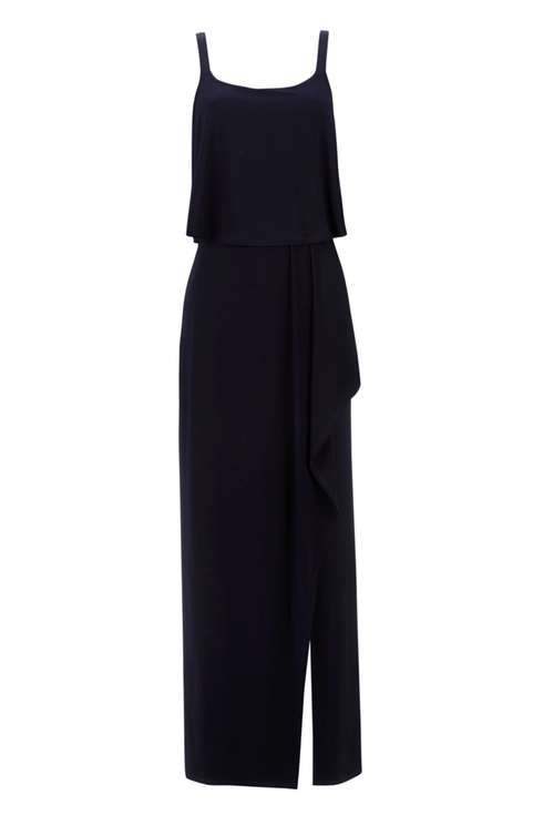 Navy Waterfall Overlay Maxi Dress Was £42.00 Now £29.40Click to visit Wallis