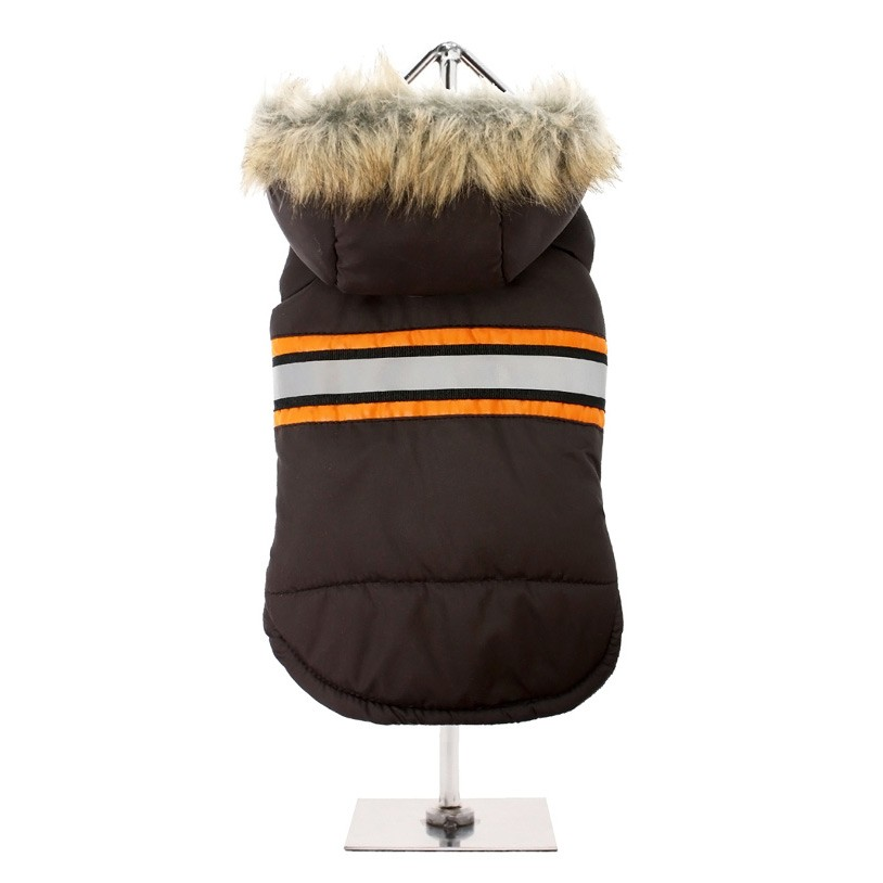 Dog Bodywarmer with Hood in Brown £22.95 Click to visit Top Dog Apparel