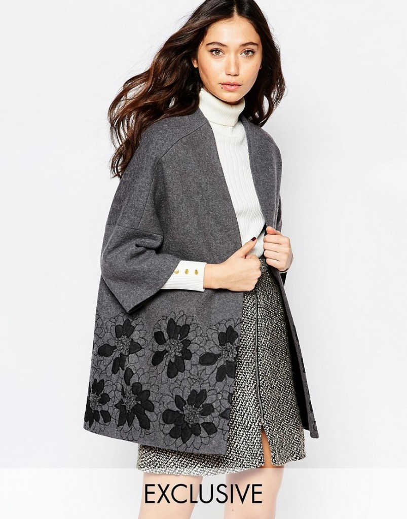 Helene Berman Floral Embroidered Kimono Coat RRP £180.00 £110.00 Click to visit ASOS