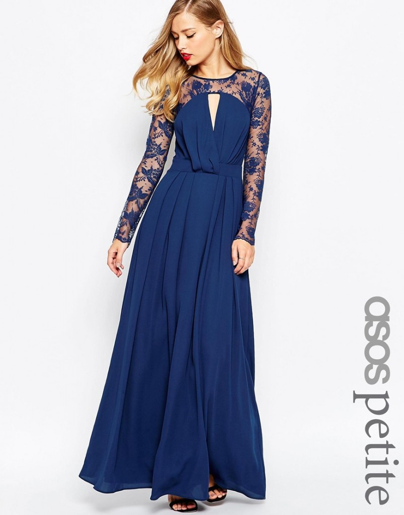 ASOS PETITE Kate Lace Maxi Dress with Long Sleeves now £31.50 Click to visit ASOS