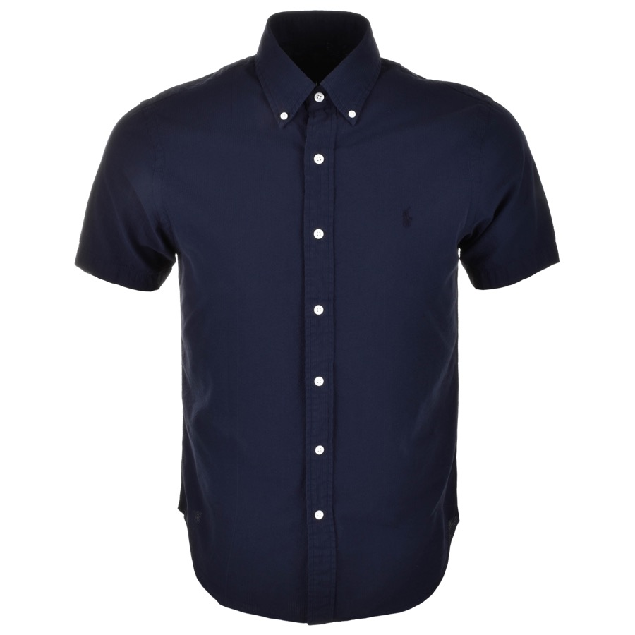 Ralph Lauren Short Sleeved Slim Fit Shirt Navy £75 Click to visit Mainline