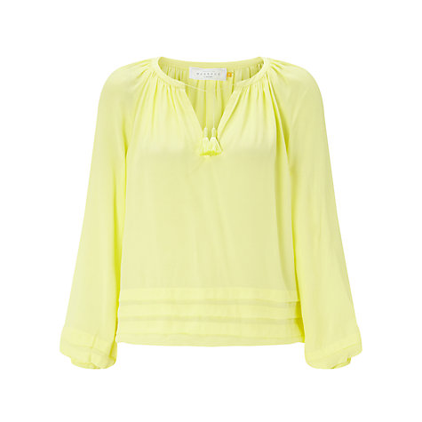 Collection WEEKEND by John Lewis Pleat Detail Tunic Blouse, Lemon £55 Click to visit John Lewis