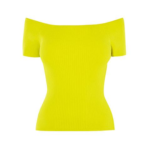 Karen Millen Knitted Off The Shoulder Top, Lime £60 Click to visit John Lewis