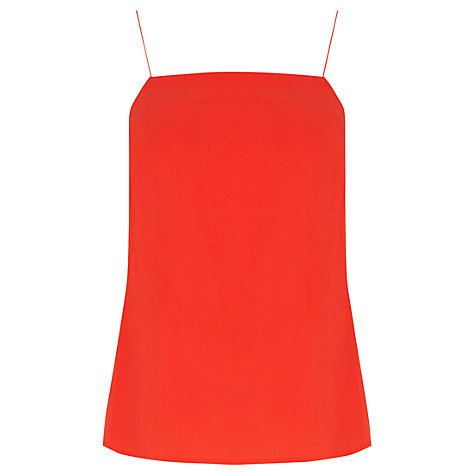 Warehouse Plain Camisole, Bright Red £17.60 Click to visit John Lewis