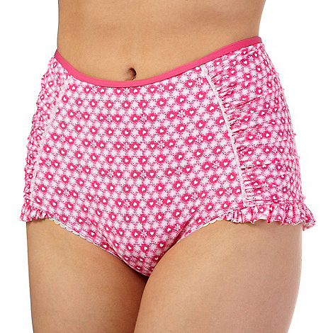 Floozie by Frost French Pink hearts high waist bikini bottoms £14
