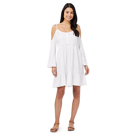 Floozie by Frost French White cold shoulder kaftan dress £27.20