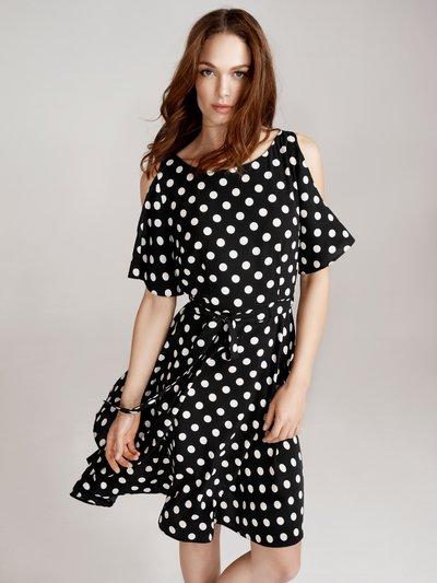 Spot print cold shoulder dress £45 Click to visit M&Co