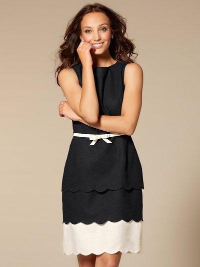 Scalloped hem shift dress £65 Click to visit M&Co
