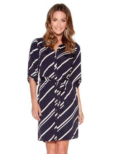 Striped shirt dress £39 Click to visit M&Co