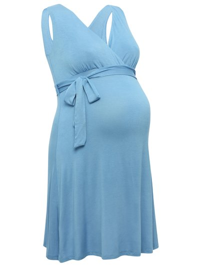 Maternity blue sun dress £22.40 Click to visit M&Co